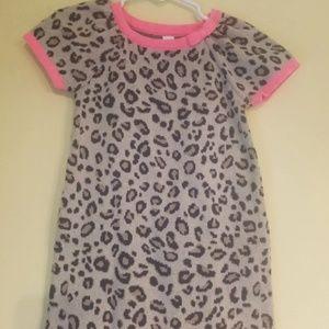 🛍2t animal print cheetah coral sweater dress